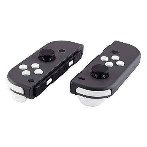 eXtremeRate Soft Touch White Replacement ABXY Direction Keys SR SL L R ZR ZL Trigger Buttons Springs, Full Set Buttons Repair Kits with Tools for Nintendo Switch Joy-Con JoyCon Shell NOT Included