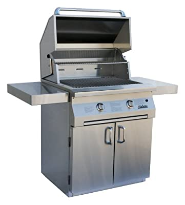 Solaire 30-Inch Infrared Natural Gas Cart Grill, Stainless Steel