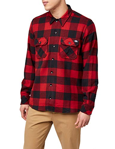 Dickies Herren Sacramento Freizeithemd, Rot (Red Rd), XXX-Large