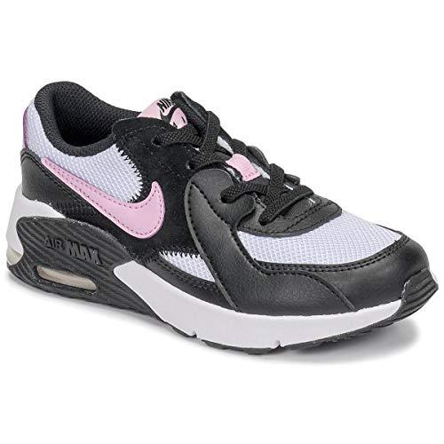Nike Air Max Excee Ps Formatori Ragazze Nero/Bianco/Rosa Basso Superiore Formatori Scarpe, (nero, bianco, rosa.), 27.5 EU
