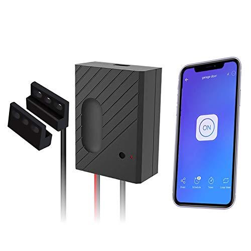 Newgoal WiFi Smart Home Garage Door Opener Control remoto inalámbrico de voz con aplicación eWelink, compatible con Alexa, Google Home, Nest e IFTTT