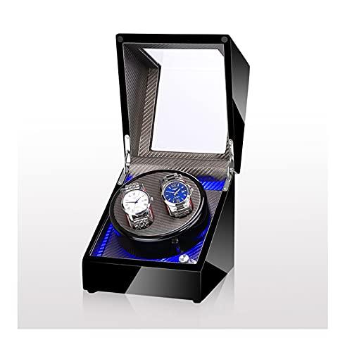 ZCL Binder automático de Doble Reloj 2 + 0 Caja de visualización giratoria Caja de Almacenamiento de Lujo Almohadas Flexibles LED Iluminación Máquina de bobinado con Motor Super silencioso, D