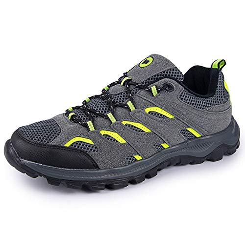 XIALIUXIA Zapatos Impermeables De Senderismo para Hombre, Ligeros Cómodos Y Transpirables Zapatillas De Seguridad Low-Top Antideslizante De Deporte,A,48