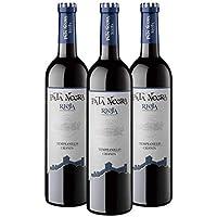 Pata Negra Crianza Vino Tinto D.O. Rioja, Crianza de 18 Meses, Alcohol 13.5% - 3 Botellas x 750 ml - Total: 2250 ml