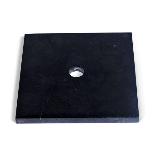 wohnfreuden Marmor Waschtisch-Platte SMINI 40x40x3 cm eckig anthrazit ✓ Naturstein-Platte für Waschbecken