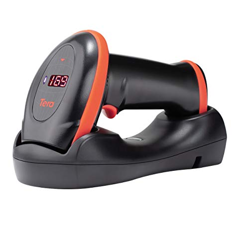 Tera [Pro Series] Wireless 1D 2D QR Barcode Scanner with Counting Screen and Charging Cradle Extra Fast Scanning Speed Ultra High Resolution Handheld Imaging Bar Code Reader for Warehouse Inventory Bar Code Scanners