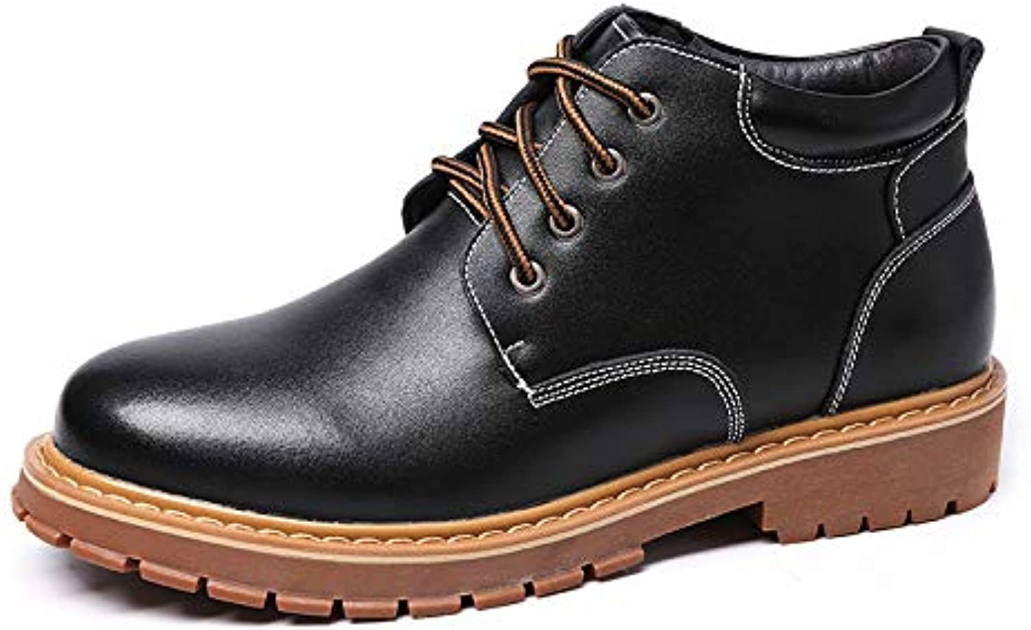 GLSHI Men Autumn Winter Martin Boots Fashion Outdoor High Top Tooling Shoes Warm Cotton Shoes Large Size