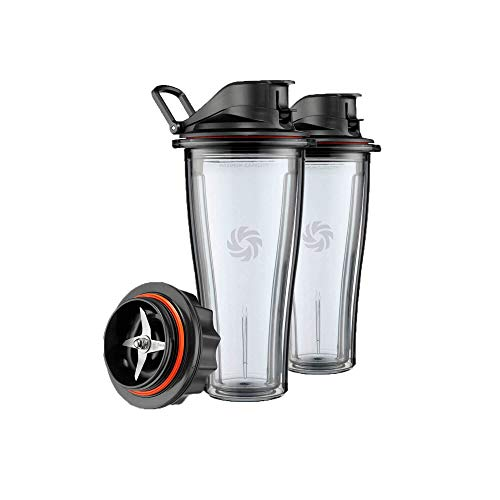Vitamix Ascent Series – 600 ml Mix & Go Behälter-Set, Kunststoff, 600 milliliters
