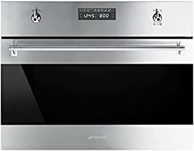 Smeg SU45MCX1 Classic Built-in Speed Oven with 1000W Microwave and 10 Cooking Modes, Stainless Steel