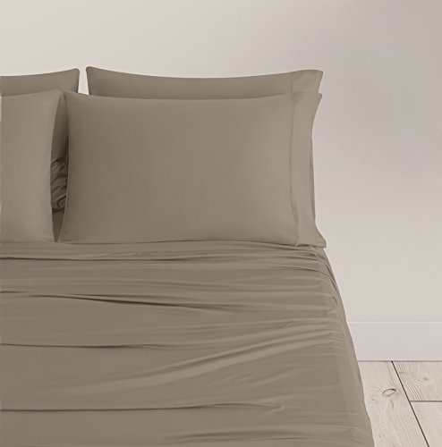 SHEEX Breezy Cooling Pillowcases, Set of 2, Silky-Smooth and Breathable, Taupe, King