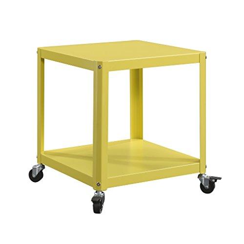 Sauder Square1 Accent Cart, L: 17.28' x W: 17.28' x H: 18.90', Citron Green finish