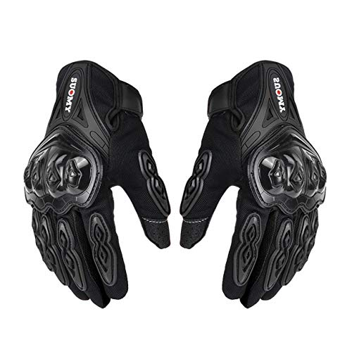 Bruce Dillon Motorcycle Gloves Men's Off-Road Motorcycle Gloves Full Finger Gloves - SU-10 Black,L