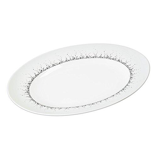 Table Passion - Plat ovale 35 cm borealis gris