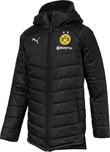 PUMA Herren BVB Bench with Sponsor Logo Jacke, Black, M
