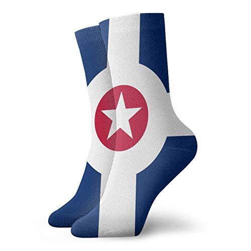Kevin-Shop Divertida Bandera Colorida de Indi-anapolis Crew Calcetines Calcetines al Aire Libre...