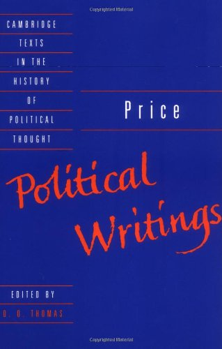 Price: Political Writings (Cambridge Texts in the History of Political Thought)