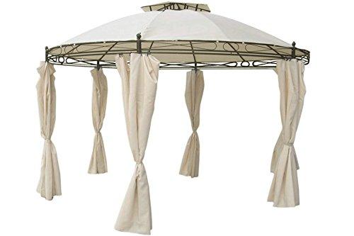 Unbekannt Pavillon rund 3,5 m beige inkl. Seitenteile wasserdicht