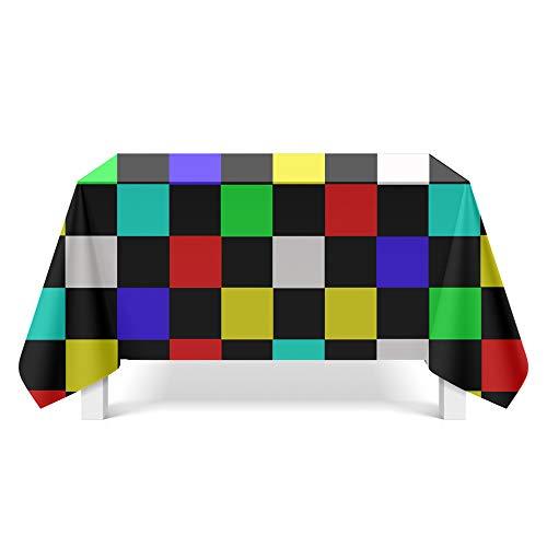DREAMING-Geometrisches Muster Kunst Tischdecke Haushalt Tischdecke Tv-Schrank Couchtisch Tuch Runde Tisch Tischset 140cm * 200cm