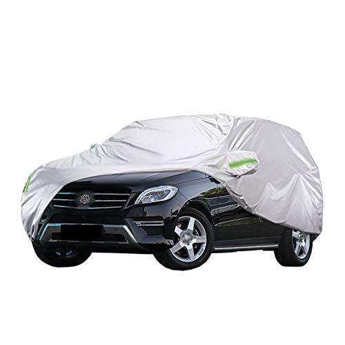 Cubierta para Coche Compatible con Mercedes-Benz ML 300/320/350/400/500/550 Cubierta de protección Todos los climas Impermeable A Prueba de Viento A Prueba de arañazos Cubiertas Exteriores Completas