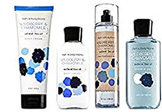Bath and Body Works WILDBERRY & CHAMOMILE Gift Set - Body Lotion - Body Cream - Fragrance Mist & Shower Gel -Full size