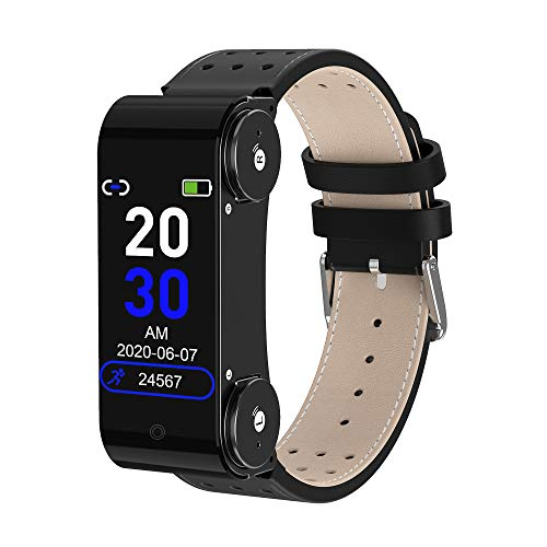 RAPG Pulseras Inteligentes Reloj Inteligente Bluetooth L890 Auricular Rastreador de Actividad Impermeable con Monitor de Presión de Ritmo Cardíaco Adecuado para Teléfonos iOS Android