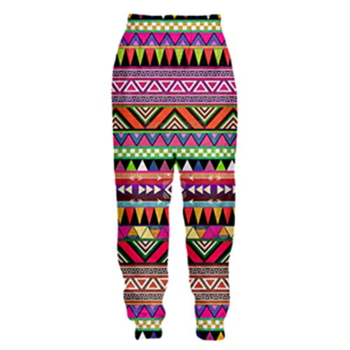 FR-pants-personality Hommes Pantalons 3D Aztec Totem Print Tribal Background Style rétro Pantalon de Jogging décontracté Color as The picture1 XXL
