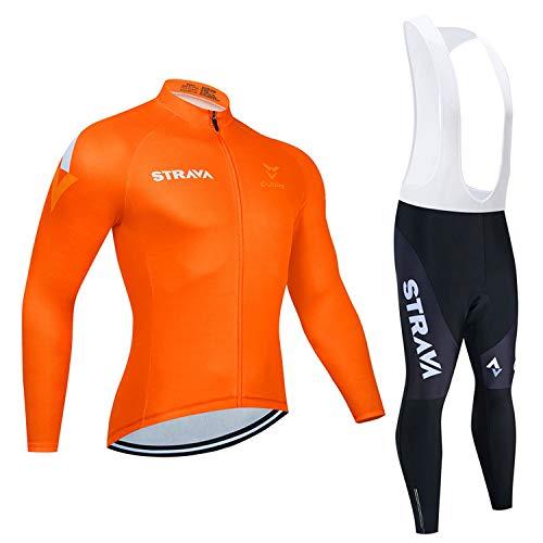 Maillot de ciclismo de manga larga + pantalones cortos 3D MTB con...