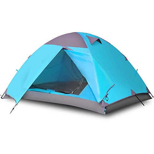 Vicona Camping Tents 2 Person Double Layer - Waterproof Lightweight Backpacking Tent for Camping with Carry Bag