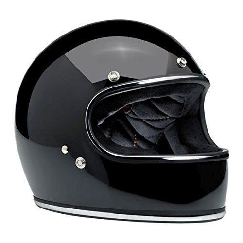 Motorcycle Storehouse Gringo - Casco integral para moto Small negro brillante
