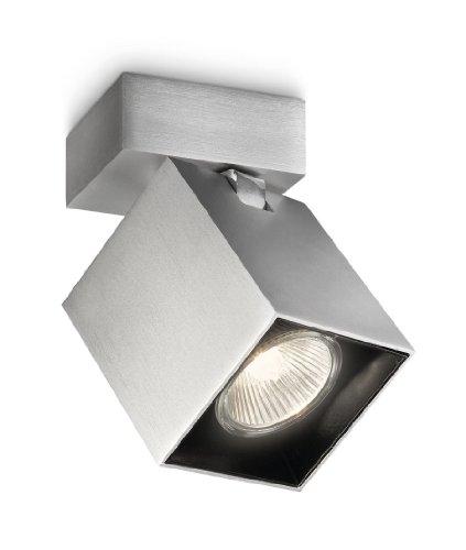 Philips For Ward Spot Quadrati in Alluminio, Lampadina Inclusa