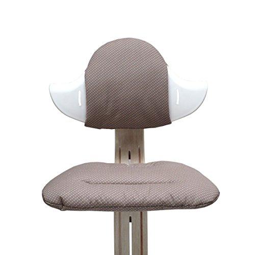 Blausberg Baby - Sitzkissen Set für Nomi Hochstuhl von Evomove - Taupe Pünktchen