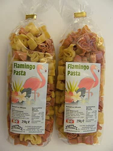 Pfalznudel Streuteile Flamingos aus Nudelteig, 2X 250 g, Nudeln, Pasta, Dekoration, Delikatesse, Flamingo