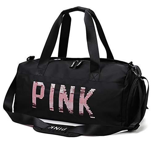 NEHARO Viajes Duffel Tote Bag Zapatillas de separación de Mojado seco Bolsas para Deportes Gimnasio Femenino Yoga Lentejuelas Bolsa de Viaje Bolsa Fitness Entrenamiento Bolsa para Hombre y Mujer