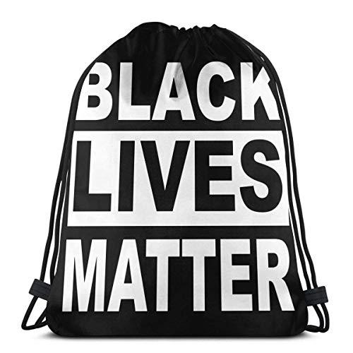 CherishU Mochila con Cordones Unisex Black Lives Matter George Floyd Bolso de Lazo Ligero al Aire Libre, Bolso de Regalo