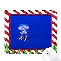海洋クラゲ科学は自然の写真 ゴムクリスマスキャンディマウスパッド