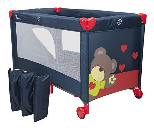 Chiccot - Una Cuna De Viaje Para Niños Con Colchón Para Dormir. Portátil y Plegable. 124 x 68 x 74 cm (Granada)