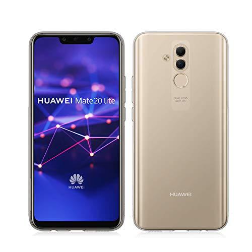 NEW'C Cover Compatibile con Huawei Mate 20 Lite, Custodia Gel Trasparente Morbida Silicone Sottile TPU [Ultra Leggera e Chiaro]