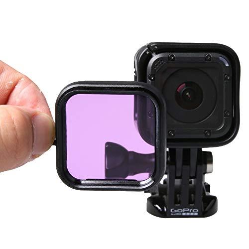 Consumer YHM-Standardgehäuse-Tauchfilter für GoPro HERO5-Sitzung / 4-Sitzung (Lila) (Color : Lila)