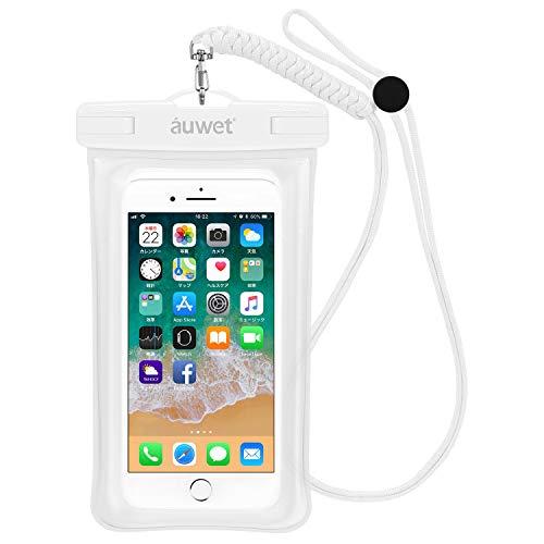 防水ケース Auwet【指紋・顔認証可能】iPhone X/8/7/6/Plus・iPhone xr xs max 水面上にフローティング 海...