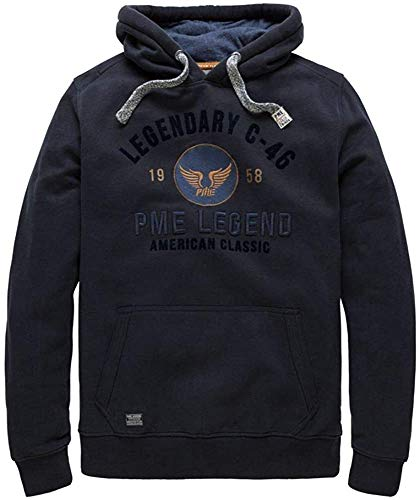 PME Legend Hooded Brushed Falcon - Hoodie, Größe_Bekleidung:S, Farbe:Salute