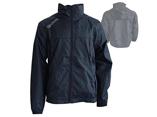Kappa Pocojack Junior Rain Jacket/Kinder Regenjacke mit Kapuze Allwetter schwarz
