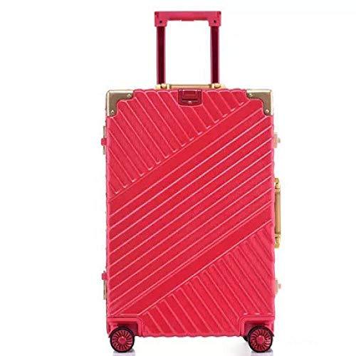 SFBBBO luggage suitcase Aluminium suitcase box business trolley luggage bag on wheels 29' red