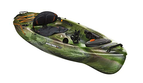 Pelican Kayak BASSCREEK 100XP Sit-On-Top Fishing Kayak Kayak 10 Feet Lightweight One Person Kayak...