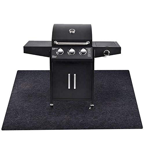 Under The Grill Protective Deck and Patio Mat, 36 x 48.1 inches, Use This Absorbent Grill Pad Floor...