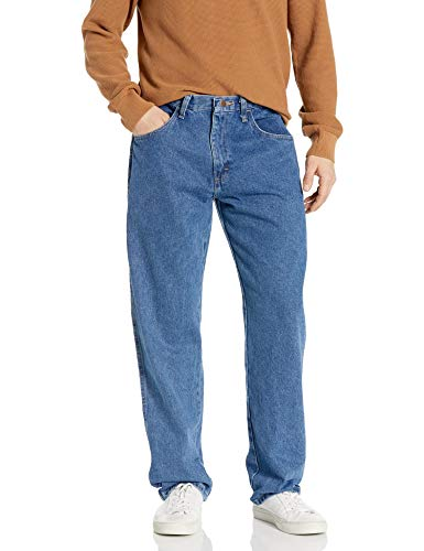 Maverick Men's Relaxed Fit Jean, Vintage Stonewash, 36x34