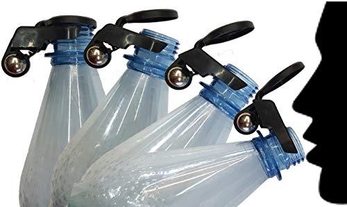 FlyEx - Erster vollautomatischer Flaschenverschluss Wespenschutz Bier Protector für Kronkorken Schraubverschlüsse Abdeckung Glasflaschen PET Flaschen Bier Cola(Mücke grau-braun)