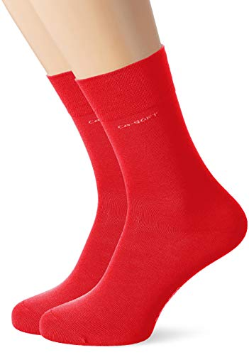 Camano Herren Socken 3642, Rot (True Red 0041), 43/46, 2er Pack