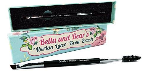 """Augenbrauenpinsel von Bella & Bear. Der """"Iberian Lynx""""-Spoolie- und Brauenpinsel ist das..."""
