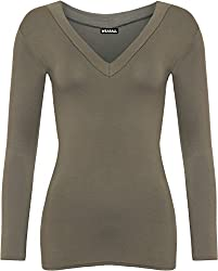 Authentic & Original Only From WearAll Length 60cm Long sleeves with V-Neck Soft jersey basics fabric Body hugging stretch fitting