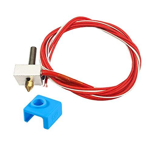Furiga MK8 Estrusore 12 V 40 W Hot End Parte Assemblato FAI DA TE 0,4 mm Ugello Riscaldatore per RepRap prusa i3 1,75 mm Filamento Silicone Sock 1PC